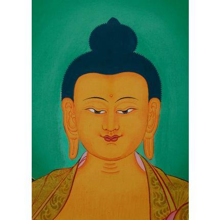 """34.25""""x24.75""""  Shakyamuni Buddha Thangka Painting"""