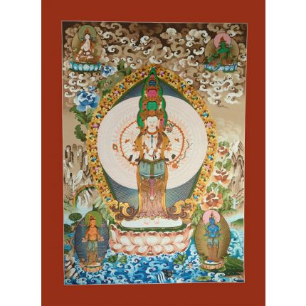 "50""x37.5"" 1000 Armed Avalokiteshvara Thangka Painting"
