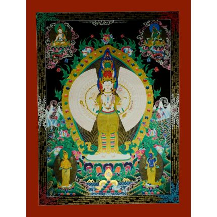 "48.5""x37"" 1000 Armed Avalokiteshvara Thangka Painting"